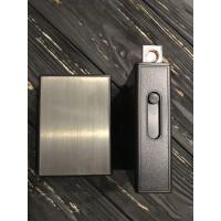 Портсигар на 20 сигарет с USB зажигалкой