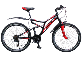 фото Велосипед Titan Ghost 26 18 2019 black-red-white