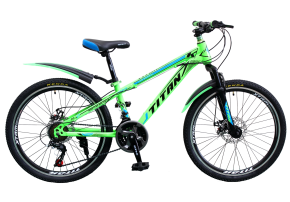 фото Велосипед Titan Maxus 24 12 2019 green-black-blue