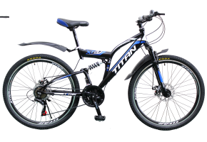 Велосипед Titan Panther 26 18 2019 black-blue-white