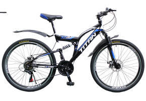 фото Велосипед Titan Panther 26 18 2019 black-blue-white