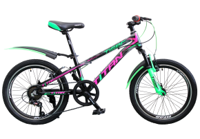 фото Велосипед Titan Tiger 20 10 2019 black-green-pink