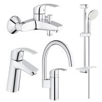 Набор смесителей кухни и ванной Grohe Eurosmart 123248MK M-Size
