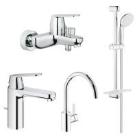 Набор смесителей для кухни и ванной M-size Grohe EX Eurosmart Cosmopolitan 126115MK