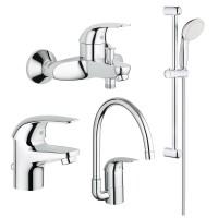 Набор смесителей для ванны Grohe Euroeco 123242K (23262000+32743000+27598001+32752000)