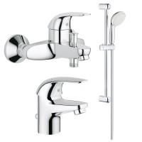 Набор смесителей для ванны 3 в 1 Grohe Euroeco 123226S