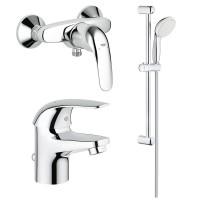 Набор смесителей для ванны 3 в 1 Grohe Euroeco 123232S