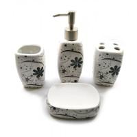 Набор для ванной керамический белый (24х22х6,5 см)B 32168B