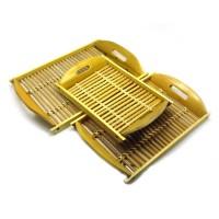 Набор подносов бамбуковых (3 шт) (40х25х5 см 35х22х5 см 32х19х5 см) 28026