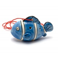 """Свистулька керамическая """"Рыба"""" синяя (8,5х6х4 см) 29025"""