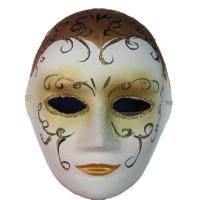 Маска карнавальная Венецианская папье-маше (25см) 29028