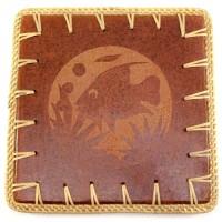 """Подставка под горячее """"Черепаха"""" терракот (23х23х0,5 см) 30290"""