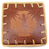 """Подставка под горячее """"Саламандра"""" терракот (23х23х0,5 см) 30290B"""