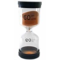 Часы песочные 60 мин оранжевый песок (13х5,5х5,5 см) 32073D