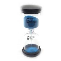 Часы песочные 5 мин синий песок (11х4,5х4,5 см) 32240D